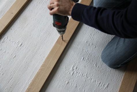 La fixation des lambourdes au sol