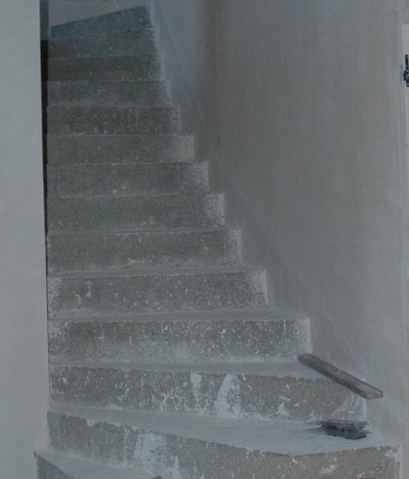 escalier béton avant pose du bois