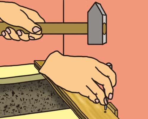 Comment clouer la première rangée du parquet